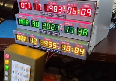 Back to the Future Time Circuits Display (TCD)