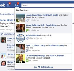Facebook Business Page notifications