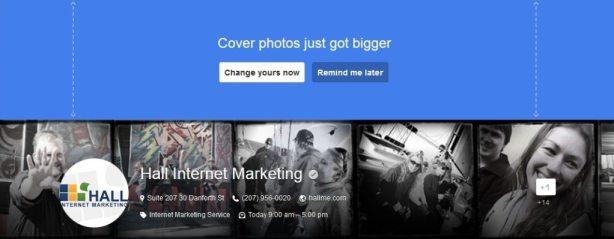 Google+ Cover Photo Change
