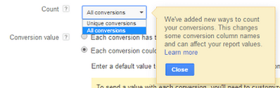 Google Adwords New Conversion Naming