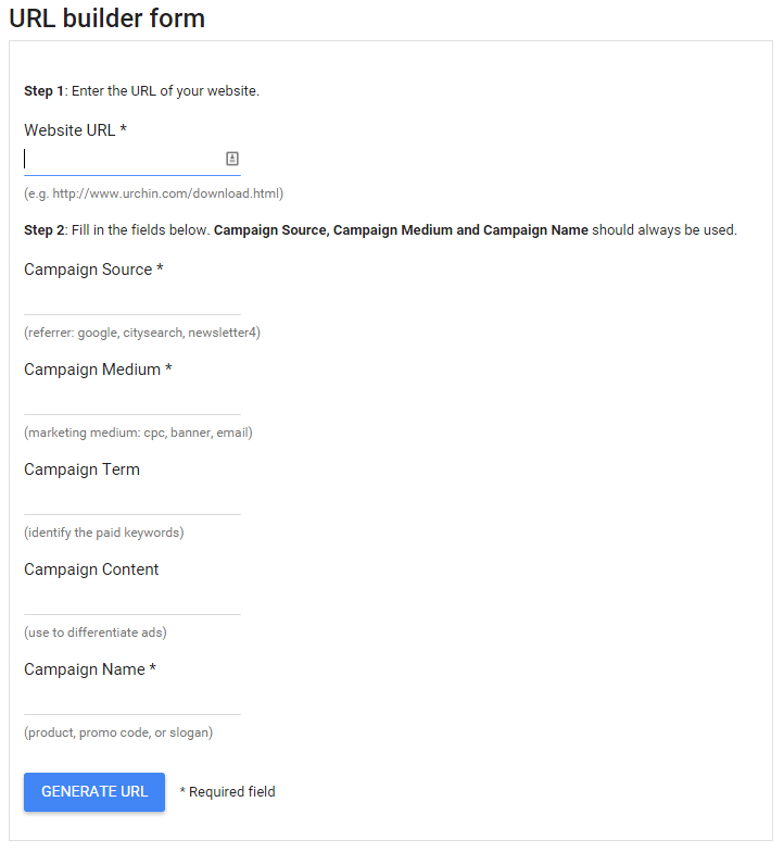 The Google URL Builder.