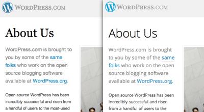 Serif vs. Sans-Serif