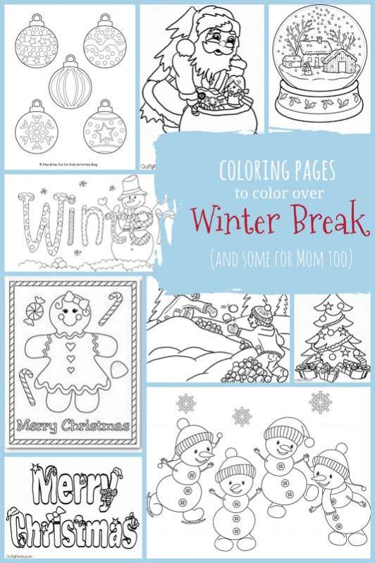 Christmas Winter Coloring Pages For Kids To Color