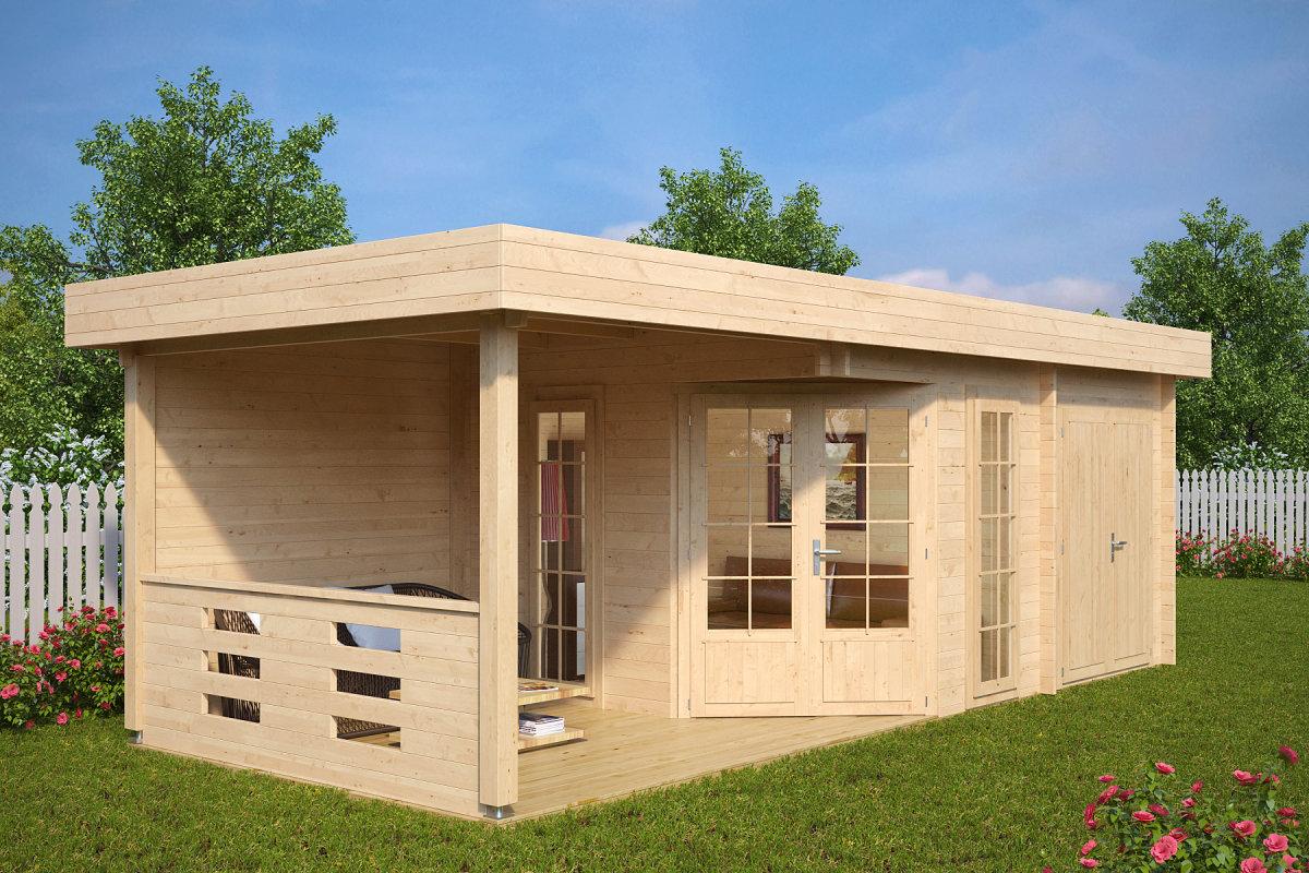 Moderne Gartenhuser aus Holz  Hansagarten24