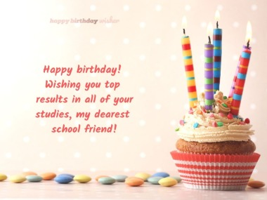birthday wishes for school