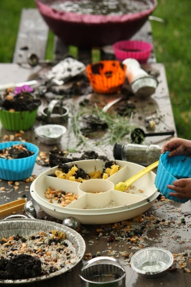 Mud Pie Activity With Expired Pantry Items Happy Hooligans