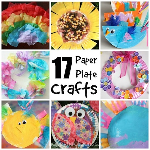 17 Easy Paper Plate Crafts For Kids Happy Hooligans