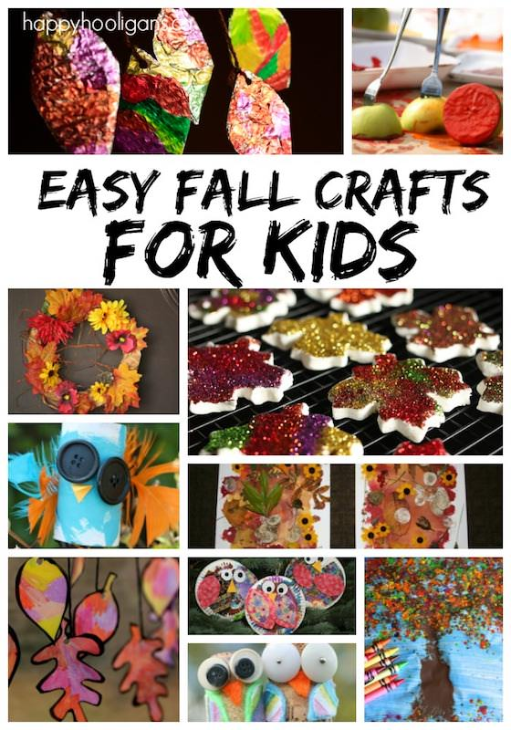 14 Fall Crafts For Kids Happy Hooligans
