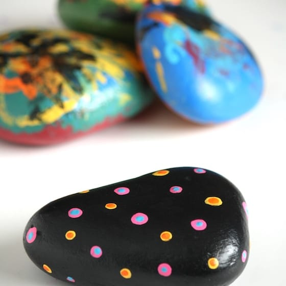 painted stones paperweights