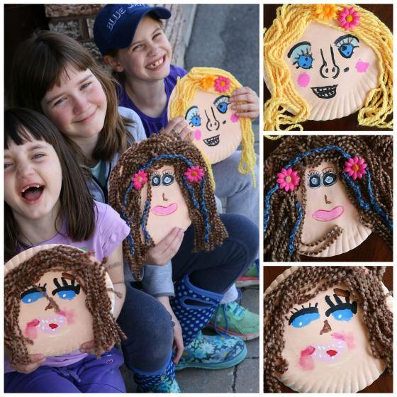 Paper Plate Self-Portrait collage