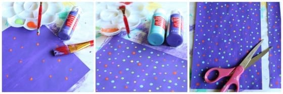 How to paint paper
