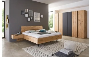 Schlafzimmer WSM 2600 in Wildeiche soft gebürstet/Mattglas ...