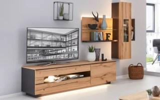 Wohnwand 2103 in Asteiche/schwarz online bei HARDECK kaufen