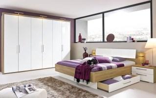 Schlafzimmer Zamaro in weiß/Eiche Volano Optik online bei ...