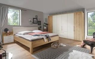 Schlafzimmer 4006 in Bianco Eiche Optik/champagner online ...