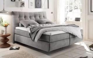Boxspringbett Malibu 2 in light grey online bei Hardeck kaufen