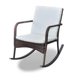 Black Outdoor Rocking Chair Cushions White Plastic Chairs New Garden With Upholstered Brown