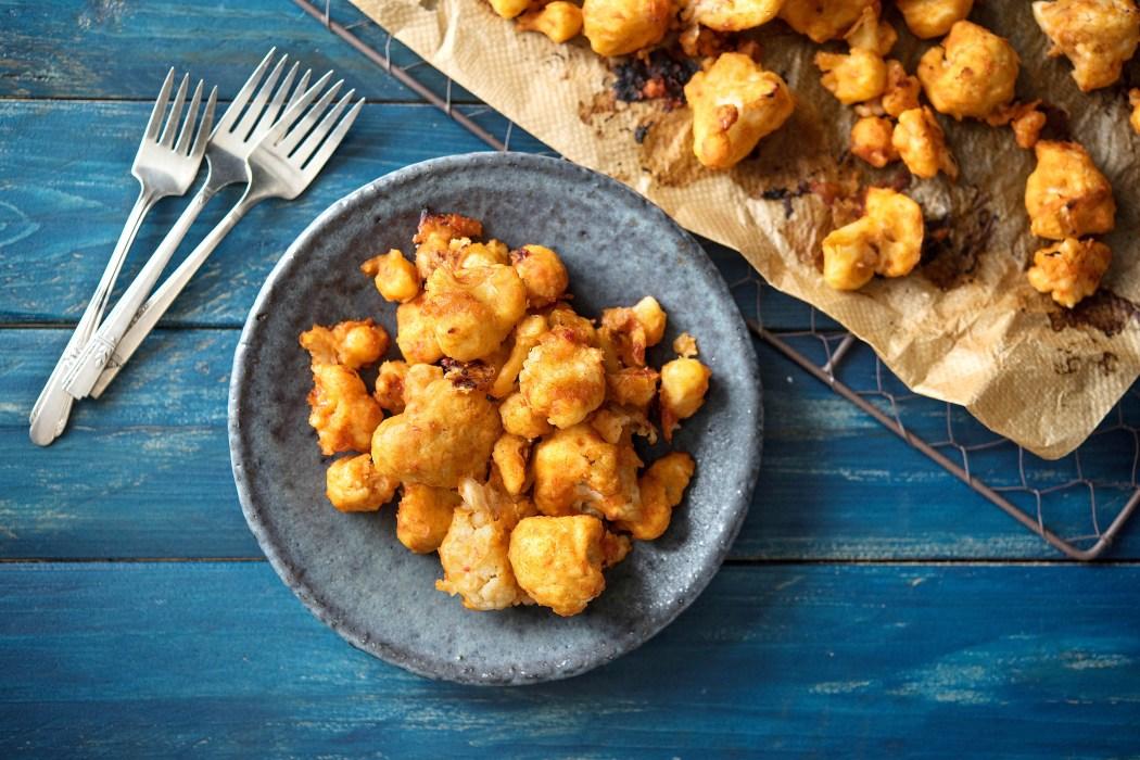 easy potluck recipes-cauliflower-buffalo-wings-HelloFresh