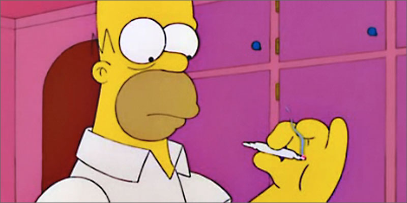 Homer Sitting On Car Wallpaper 10 Of The Best Cannabis Moments On The Simpsons