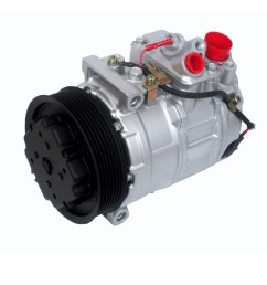 new ac compressor for 2001 2006 mercedes c240 s430 s550 e320 97396 [ 1000 x 1000 Pixel ]