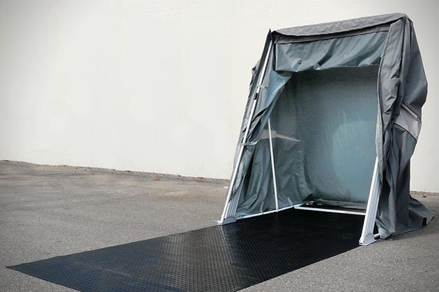 SpeedWay Motorcycle Shelter  HiConsumption