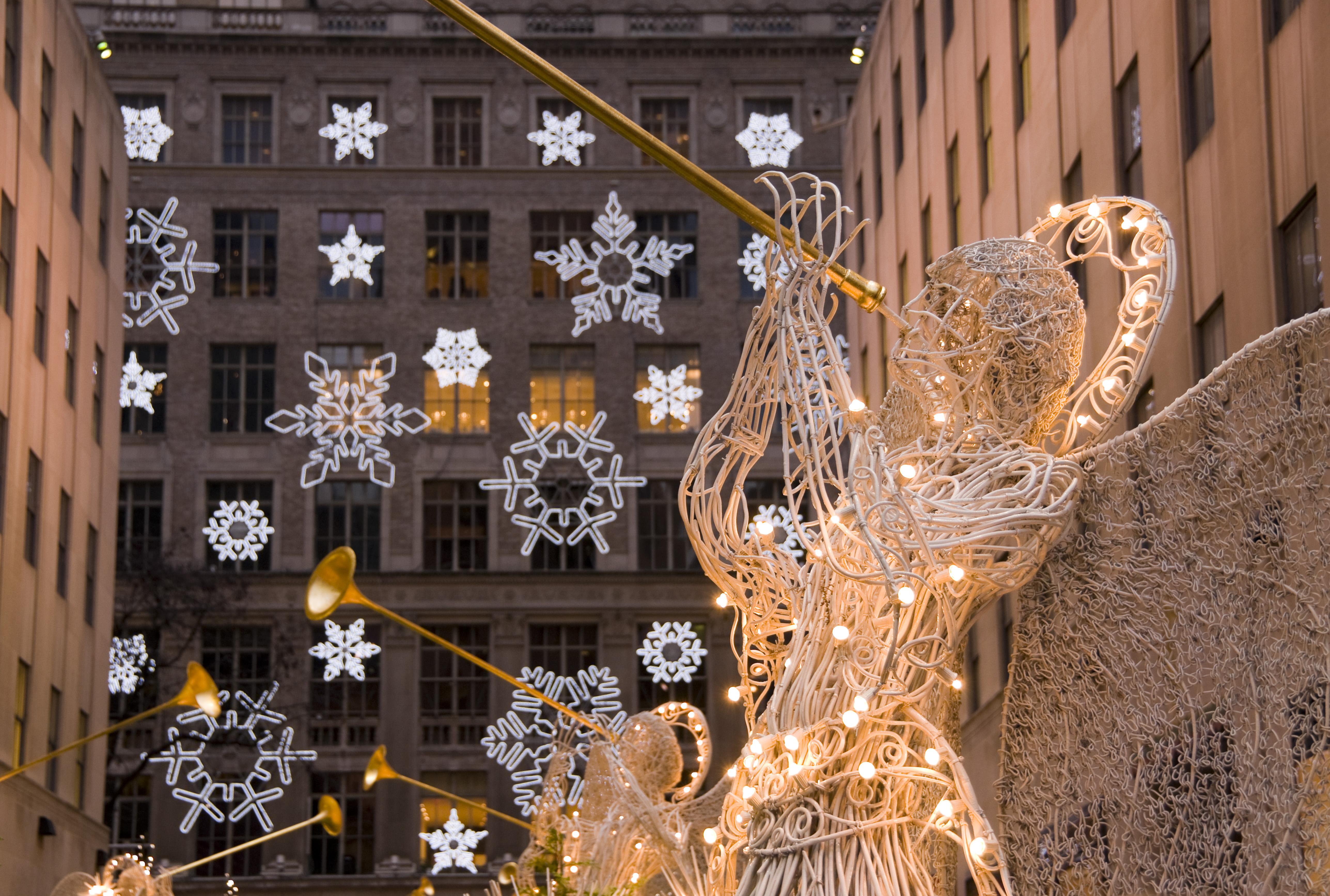 New York City Manhattan Rockefeller Center Christmas