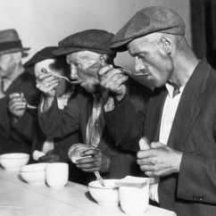 Soup Kitchens In Chicago Kohler Kitchen Sink Bread Line Depression Era New York And