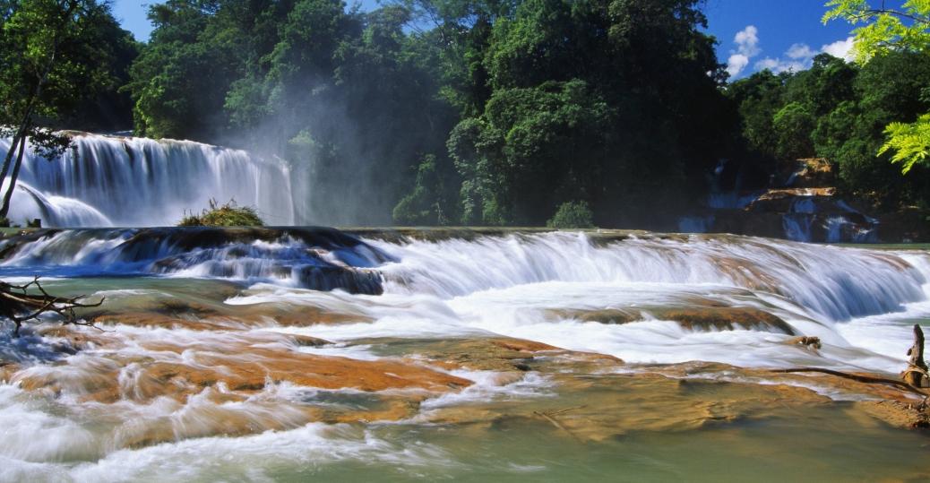 agua azul, waterfalls, chiapas, mexico