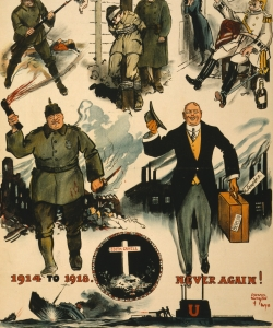 An Anti-German propaganda poster that references Cavell.