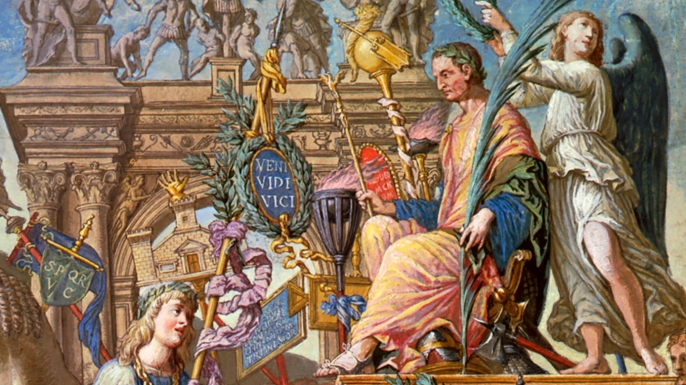 The Triumph of Julius Caesar. (Credit: IanDagnall Computing / Alamy Stock Photo)