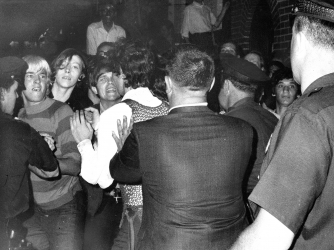 Stonewall Inn nightclub raid. (Credit: NY Daily News Archive/Getty Images)