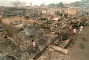 Devastation after the raid on Ipil.