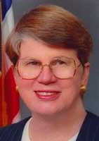 Attorney General Janet Reno, who signed the 1995 Procedures memo.