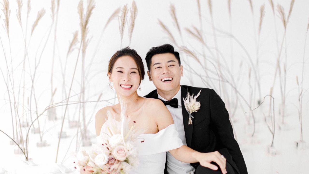 李旻芳黃耀英極簡婚紗相反而耐看 捕捉一對新人最自然的交流|香港01|即時娛樂