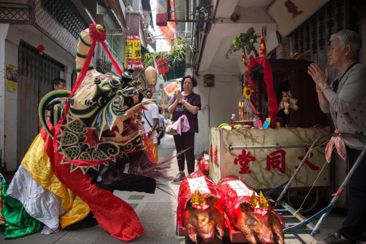 【長洲點只太平清醮】跟炮會舞麒麟採青飲酒 直擊水上人的天后誕 香港01 社區 
