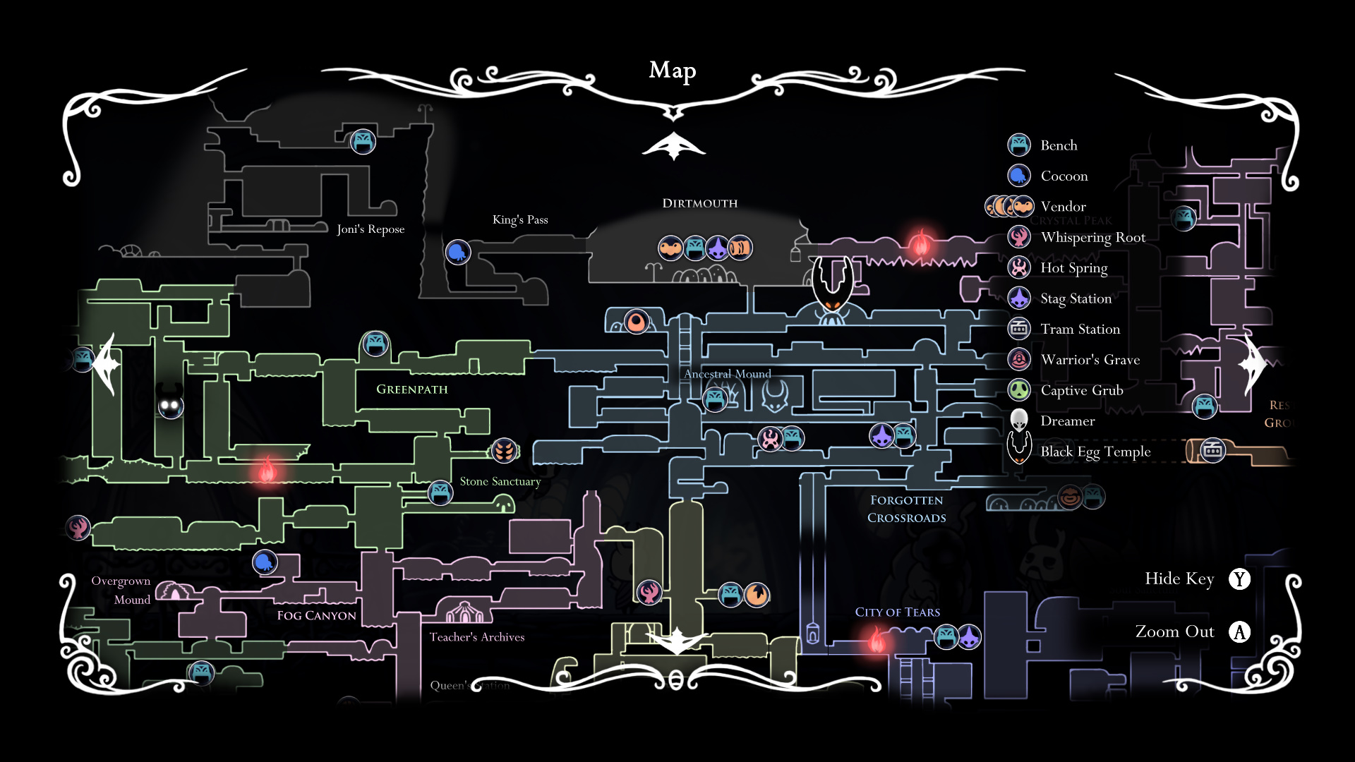 33 Hollow Knight Greenpath Map - Maps Database Source