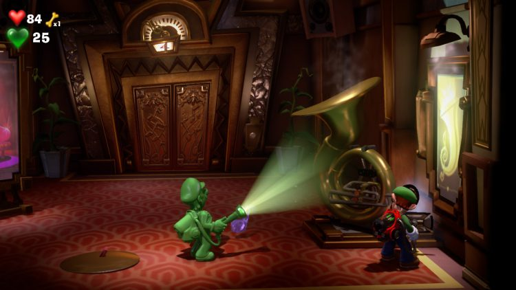 Image showing the Purple Gem Location Tuba in Elevator Hall.