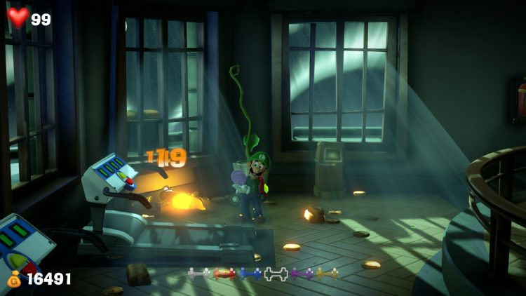 Image showing the Purple Gem Location Ghost in Training Room.