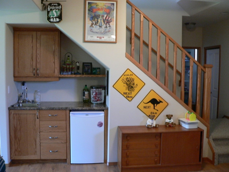 Ideas For Space Under Stairs | Cabinet Design Under Stairs | Kitchen | Interior Design | Houzz | Stairs Storage Ideas | Understairs Storage