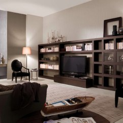 Bookshelf In Living Room Luxury Design As Focus Interior Wooden