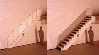 Cool Foldable Stairs From Designer Aaron Tang
