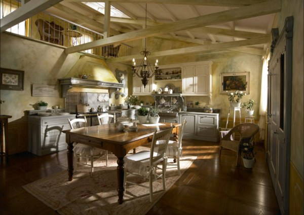 traditional country kitchen design Old Town and Country Style Kitchen Pictures