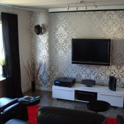 Living Room Tv Setup Paint Colors For Rooms With Dark Furniture Setups