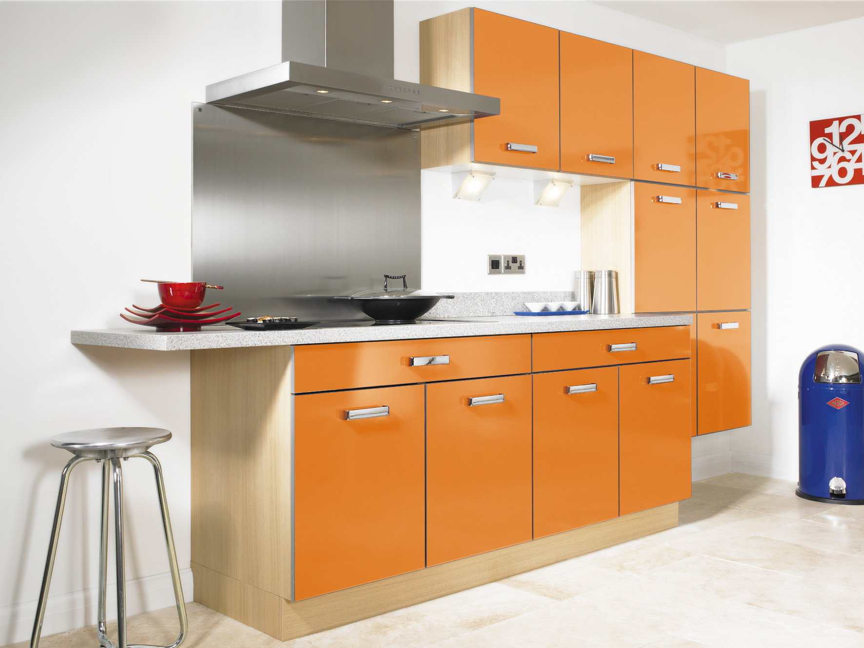orange kitchen chairs cabinets with legs kitchens moderna gloss