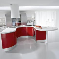 Red Kitchen Cabinets Japanese Knife Set Kitchens