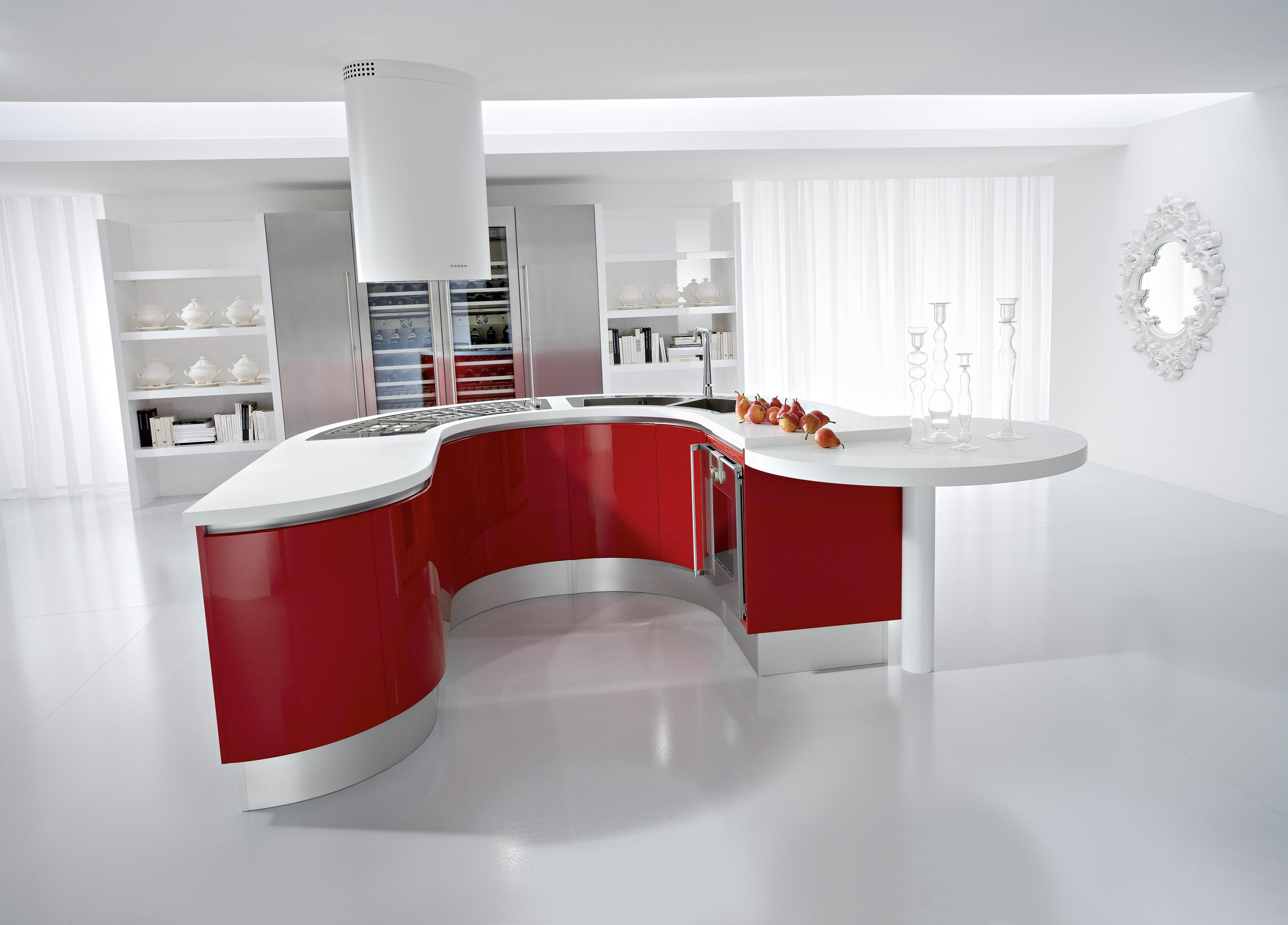 red kitchen cabinets remoldeling kitchens