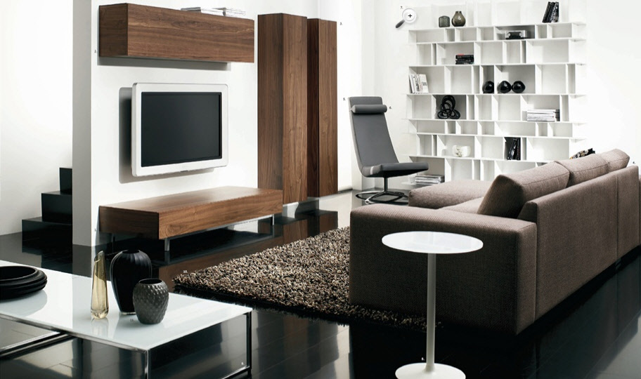 contemporary living room furniture ideas bed
