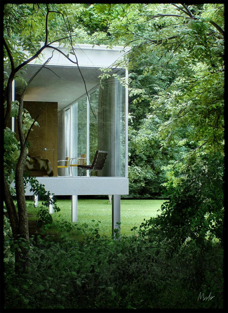 Stunning House Render using Maya