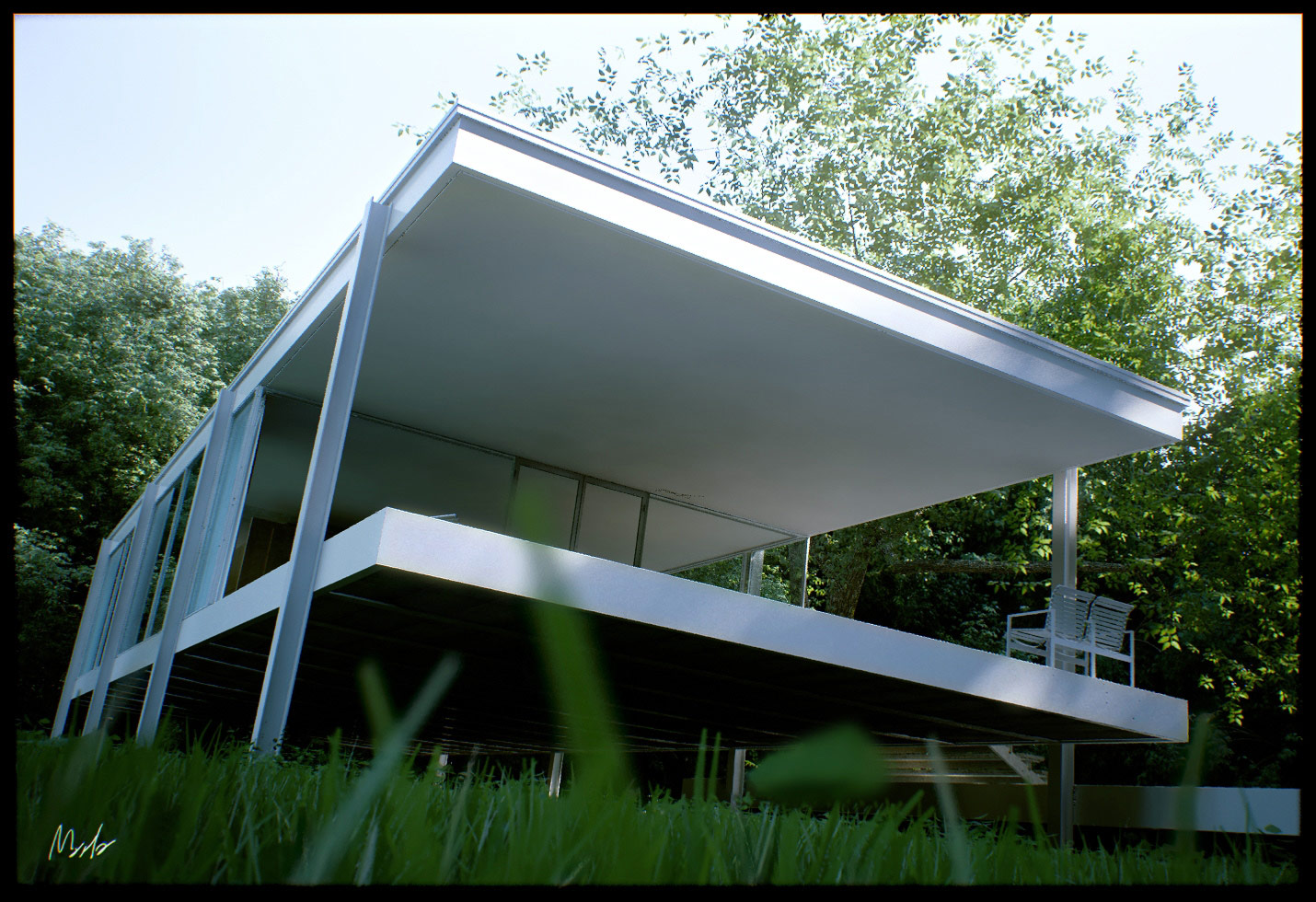 Stunning House Render using Maya