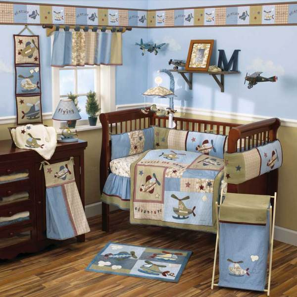Baby Boy Airplane Nursery Room Ideas